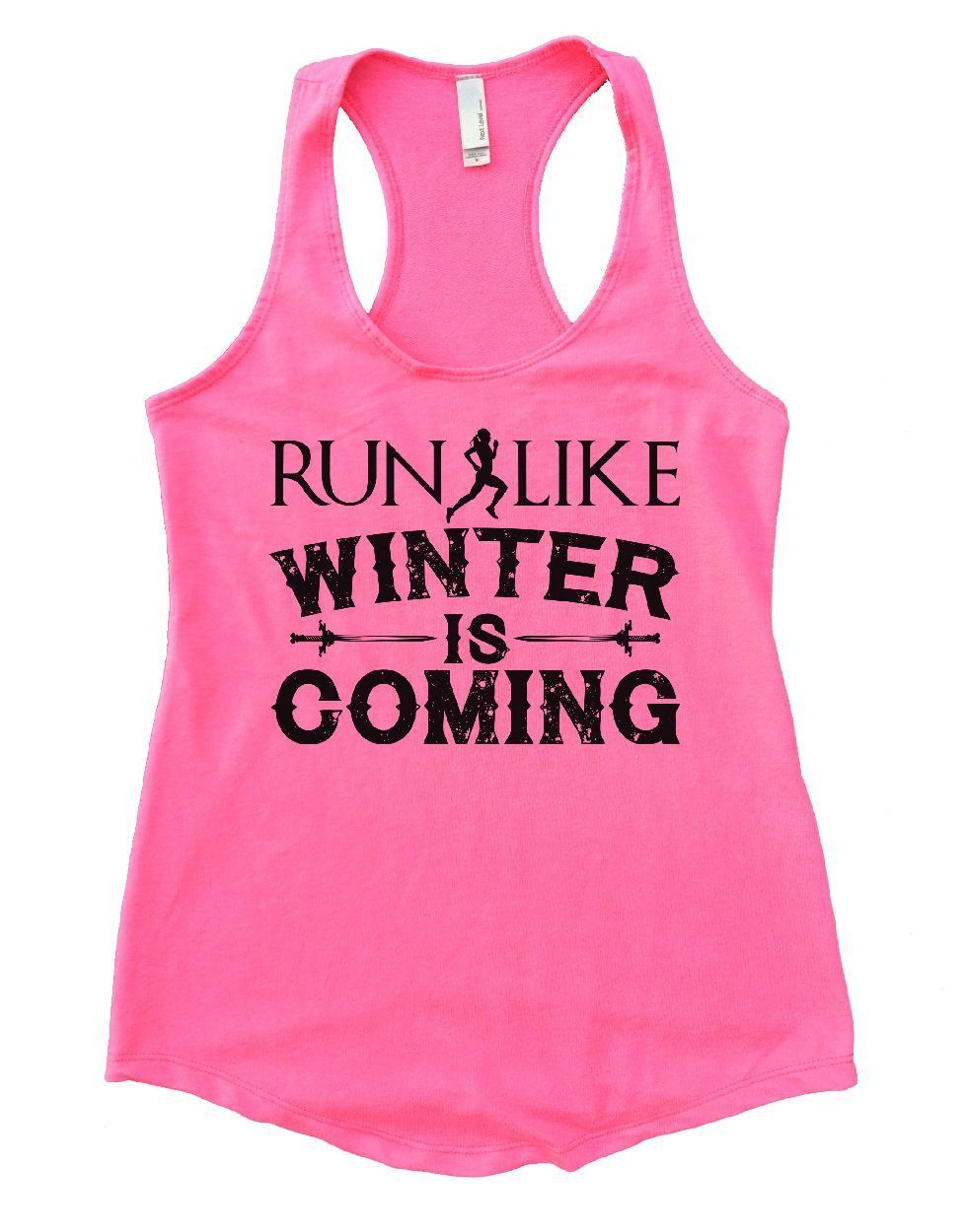 Run like winter is coming womens workout tank top woman workout