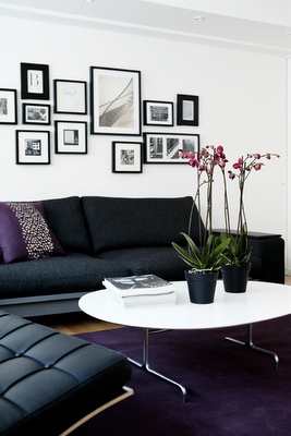 I Love This Black White And Purple Living Room Image From Kml Design Purple Living Room Living Room Decor Home