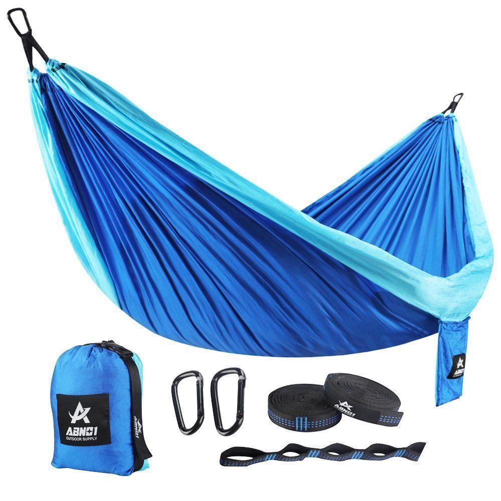 Double camping hammock travel hammock portable lightweight hammock