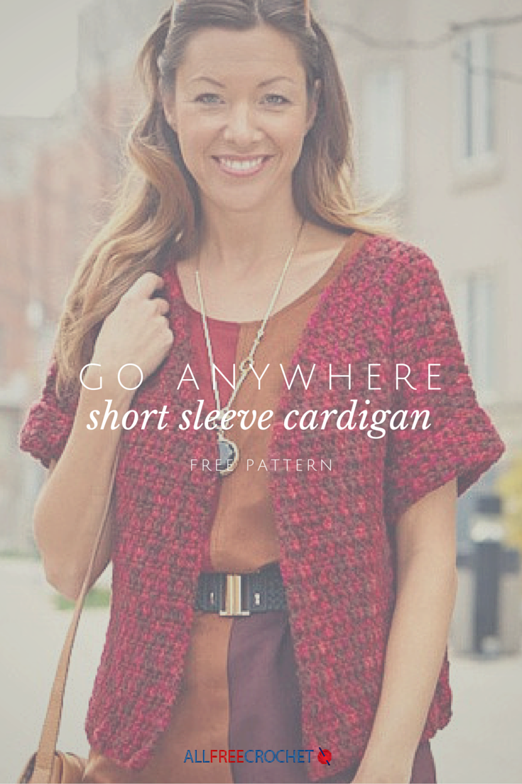 Go Anywhere Short Sleeve Cardigan | Free crochet, Crochet and Patterns