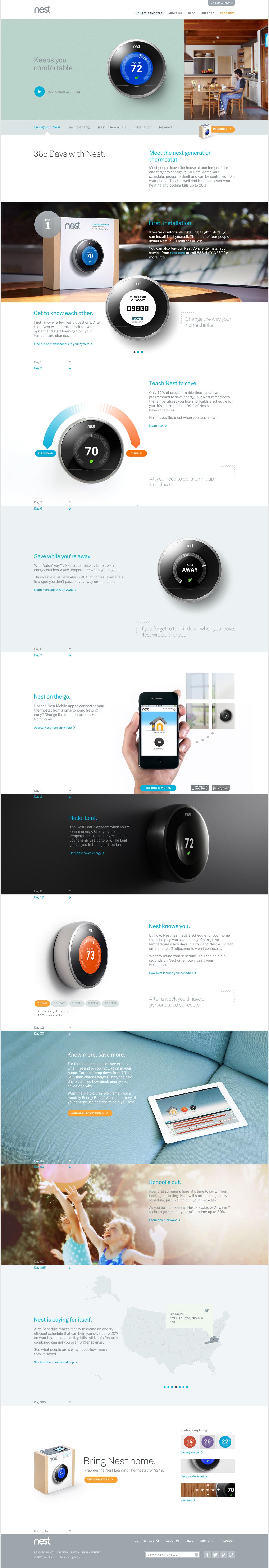 Nest - living with Nest   WEB   Pinterest   Nest, Ui ux and Site design