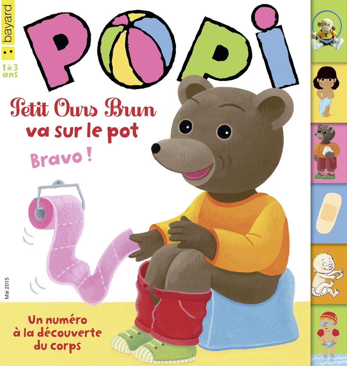 Dans le magazine popi en mai 2015 la petite gym de popi l imagier du corps petit ours brun - Petit ours brun piscine ...