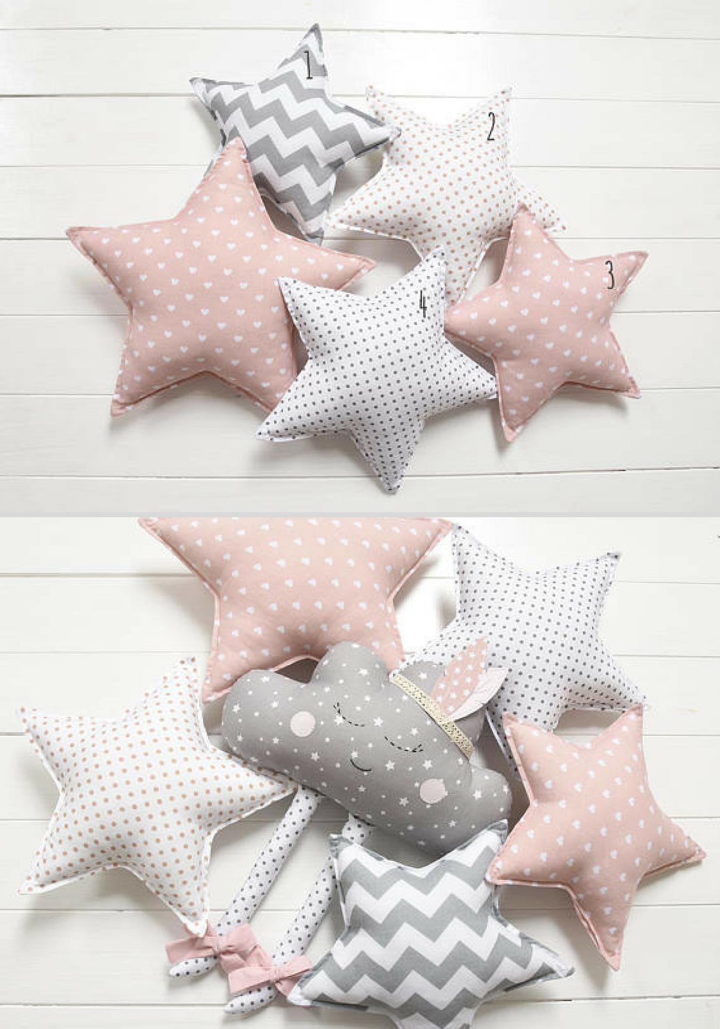 Star Pillow Shaped Nursery Decor Kids Cushion Decorative