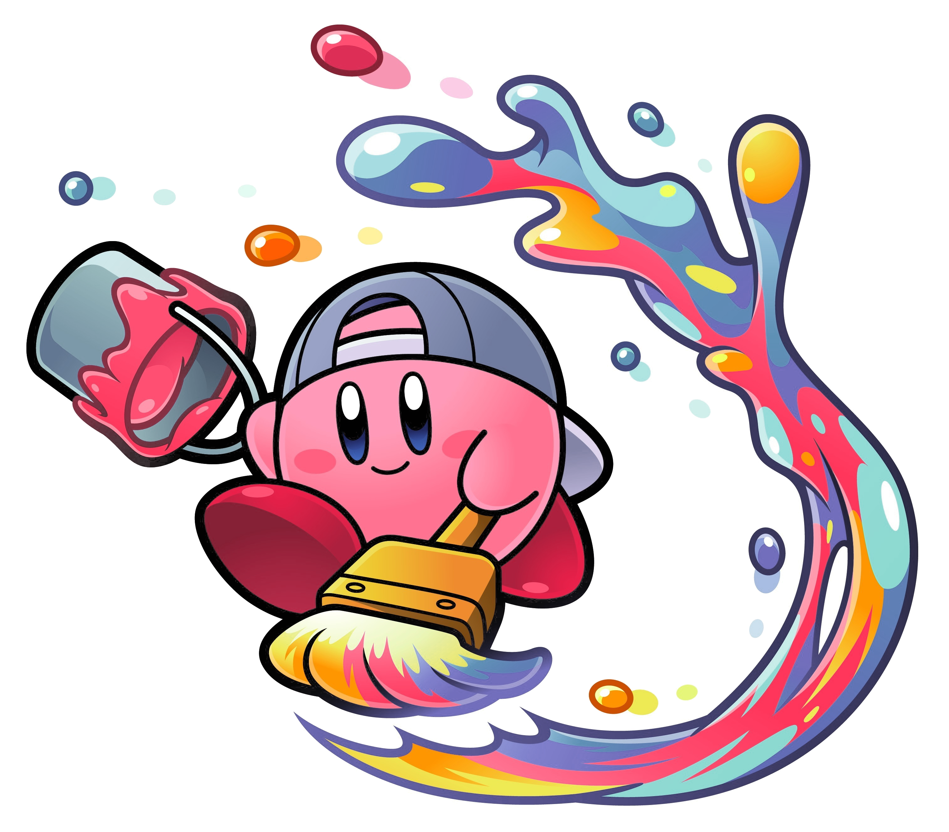 Paint.png | Kirby | Video game characters, Nintendo games ...