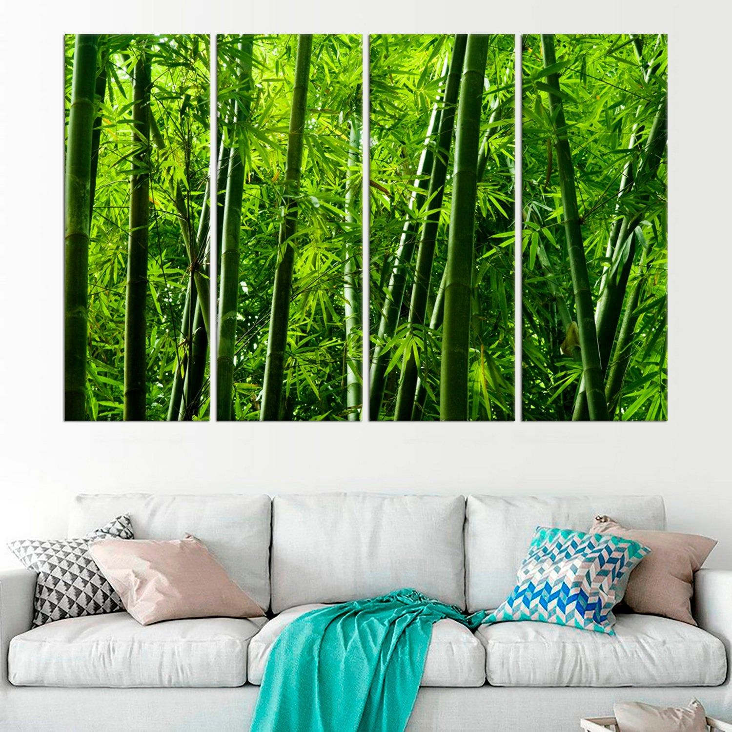 Bamboo Tree Art Tropical Rainforest Framed Prints Bamboo Etsy Bamboo Wall Art Modern Wall Decor Art Tree Art