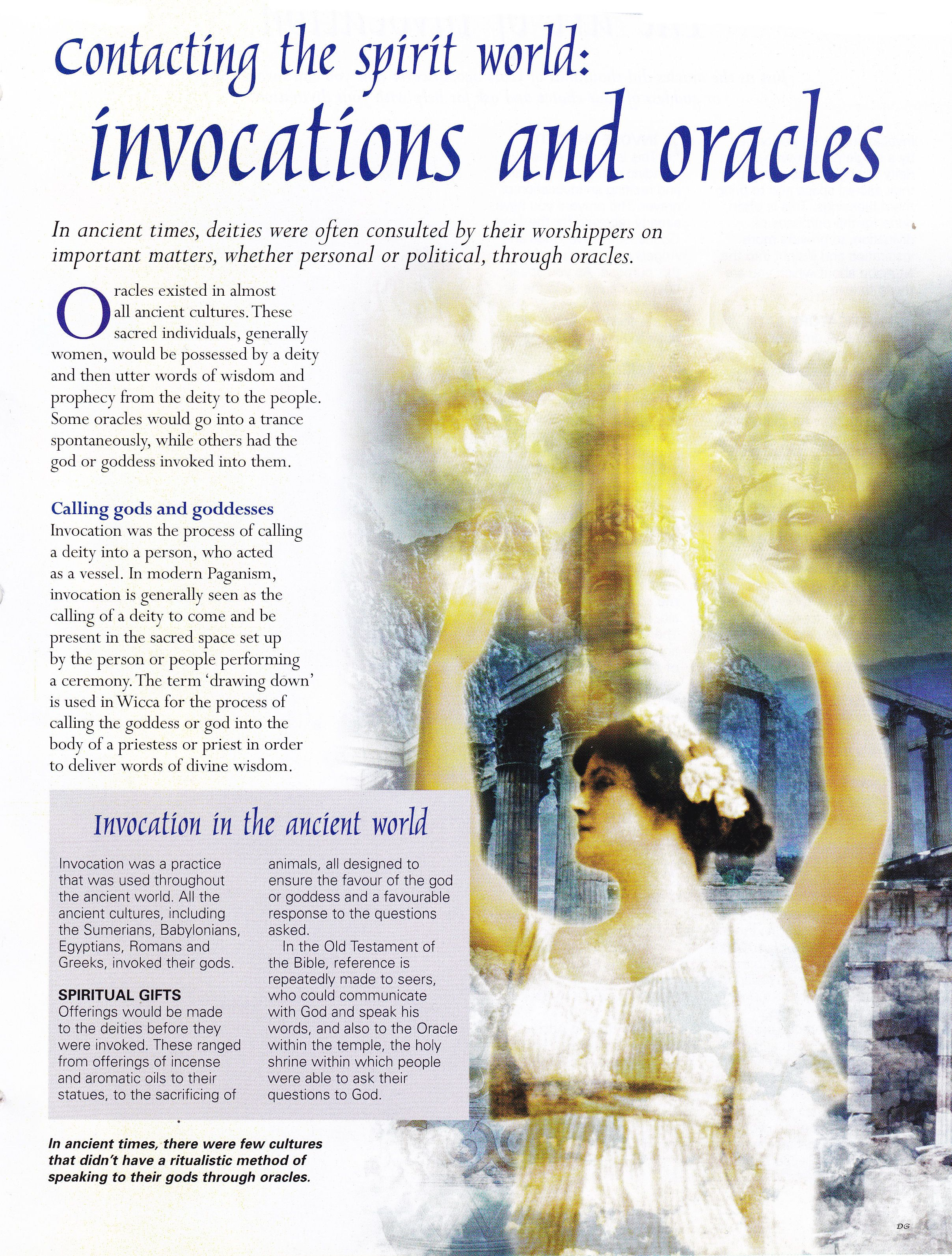 Invocations and Oracles | Enhancing Your Mind, Body & Spirit