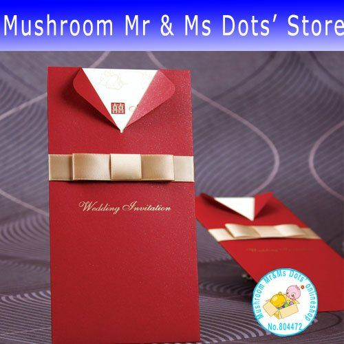 Red and Gold Invitation Card Rockability Everything Weddings - invitation card decoration
