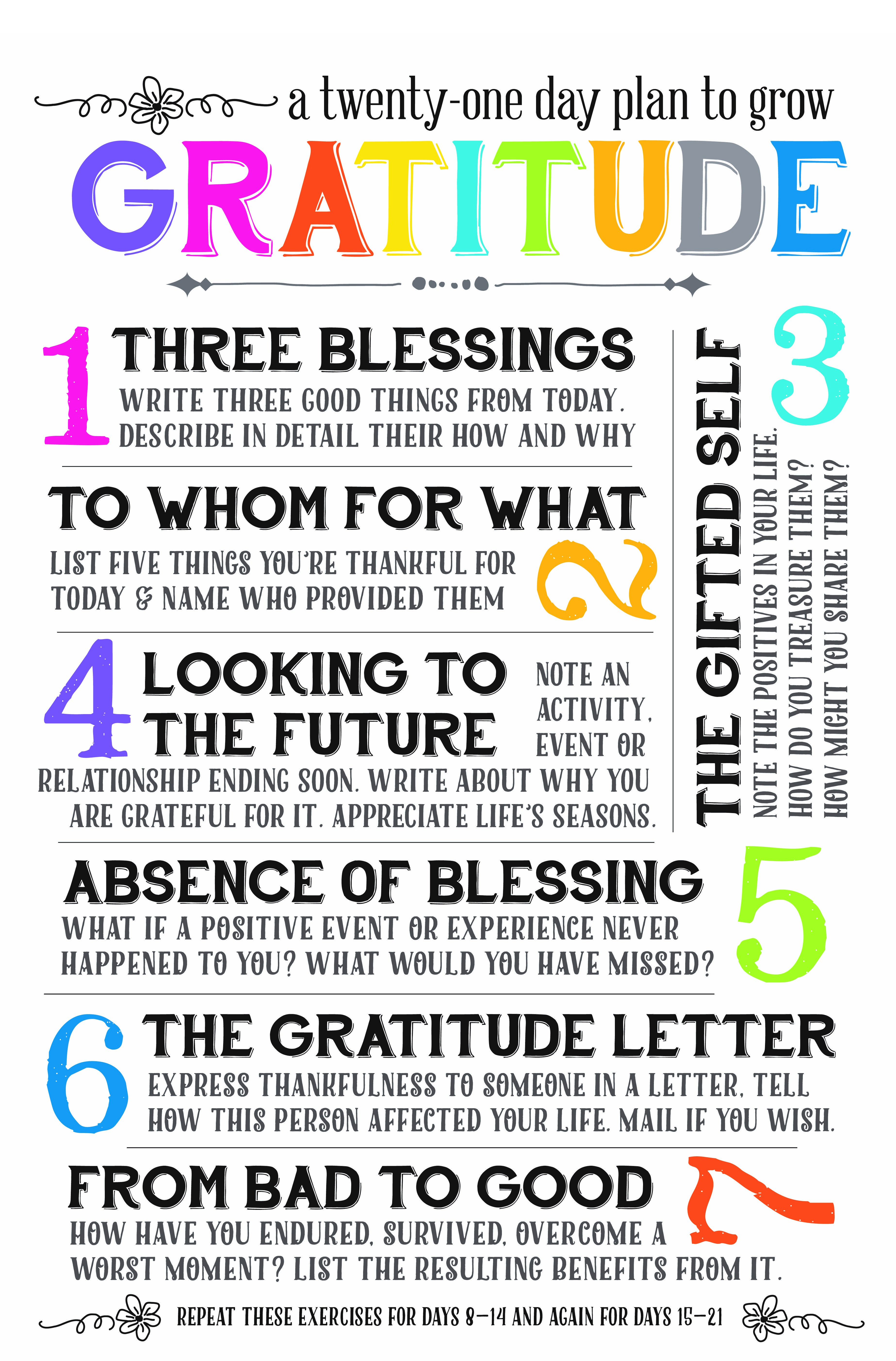 Grow Gratitude Taken From Gratitude Works By Emmons