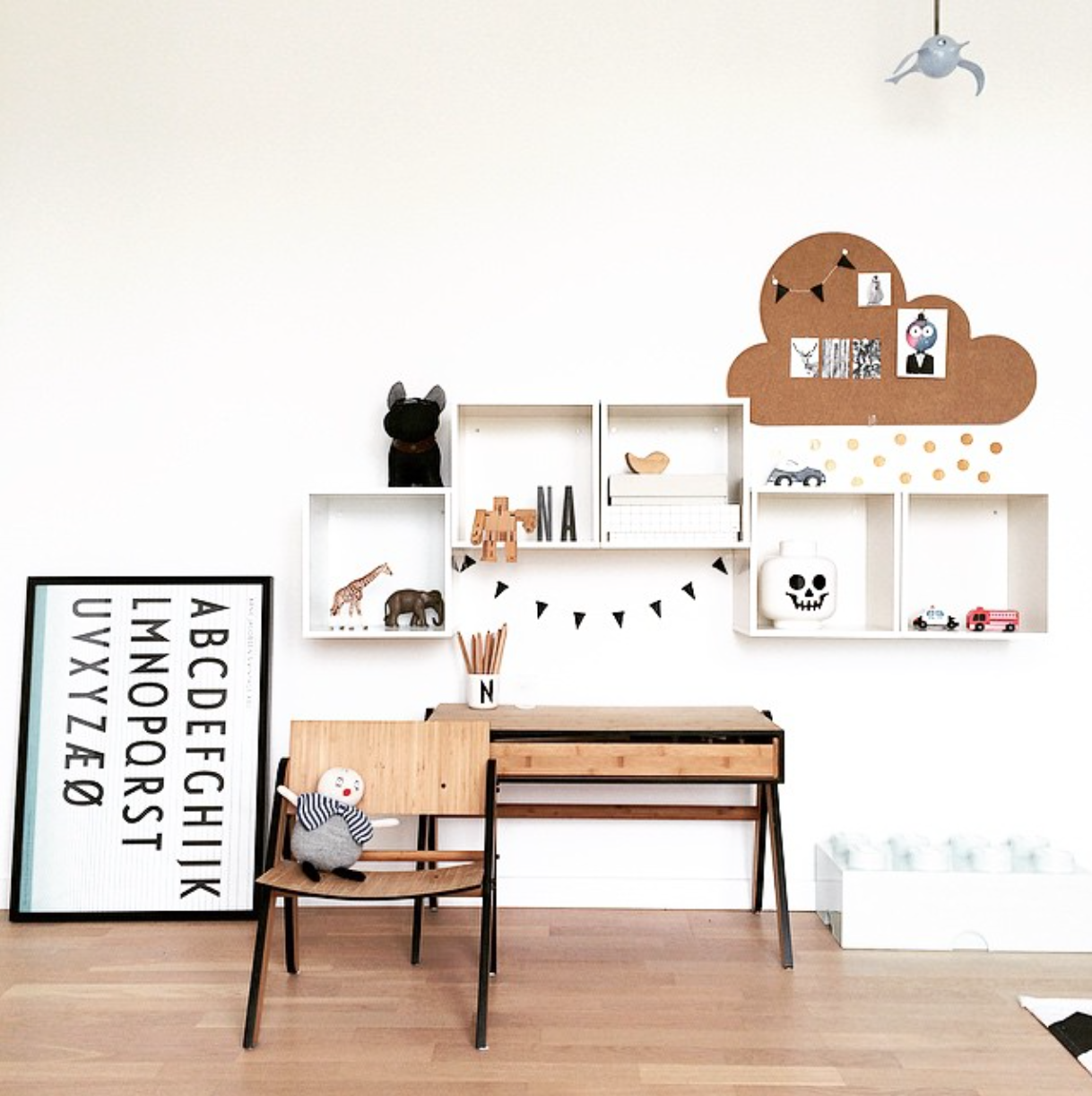 Scandinavian Style Kids Room: Monochrome Scandinavian Kids Room Tour - CK