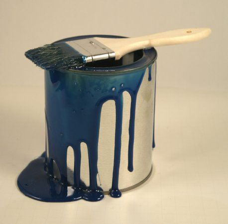 Paint Can Blue Spilled Paint Cans Paint Buckets Drip Painting