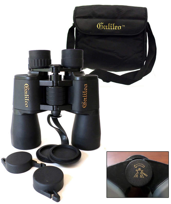 Galileo 12 Power Rubberized Binocular and Large 50mm Lenses and