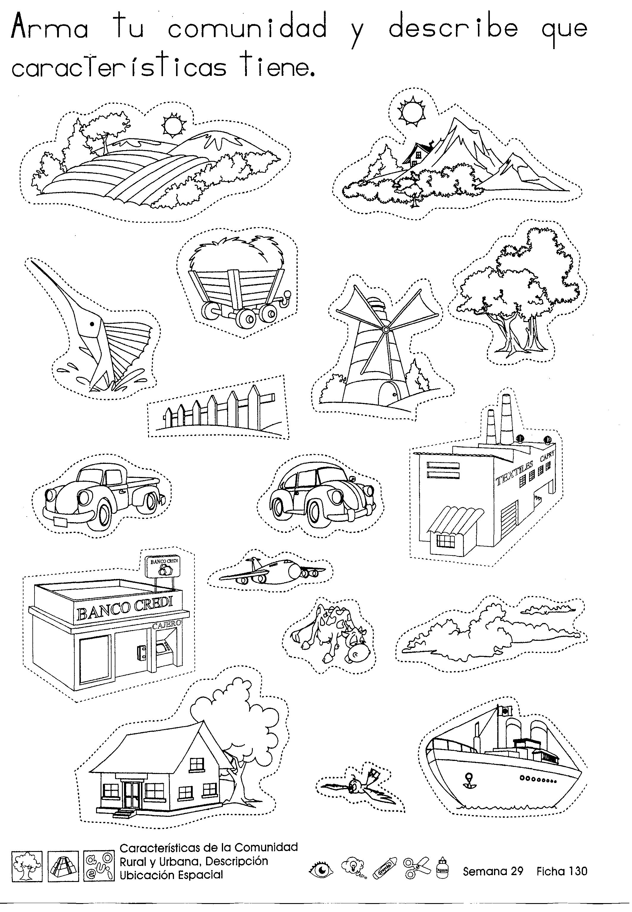 Características de la comunidad rural y urbana