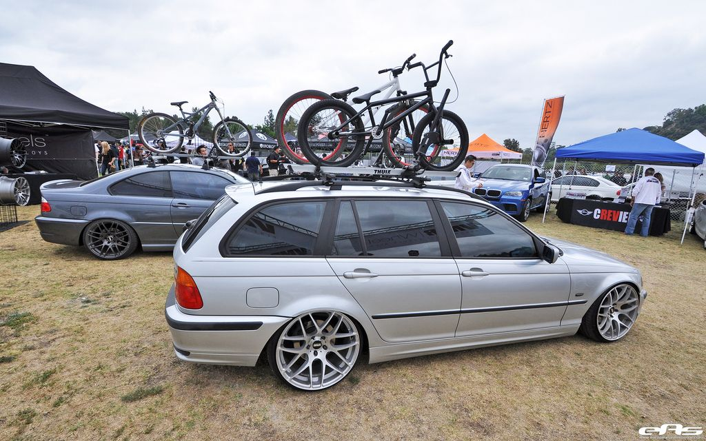 Slammed+BMW+Wagon 18′s front 19′s rear…. should have