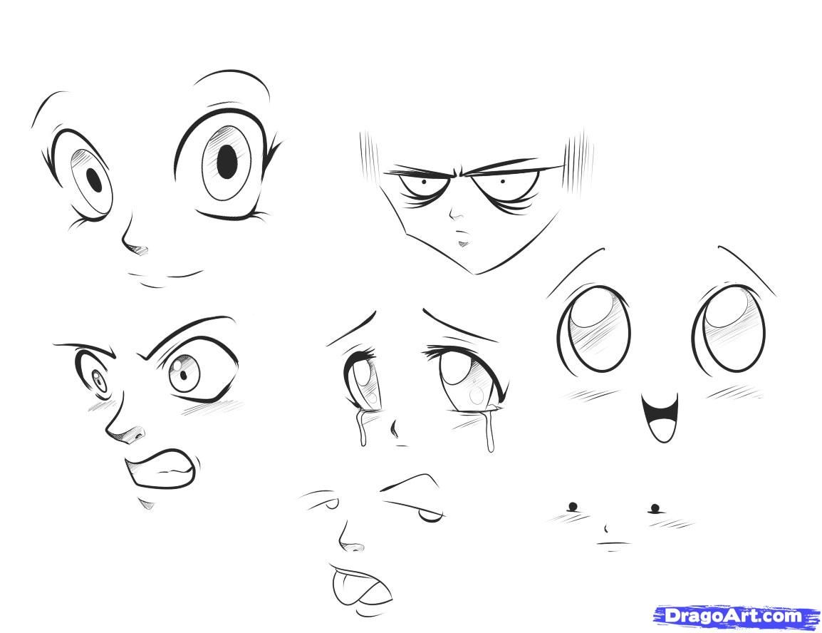 how to draw anime expressions step 4
