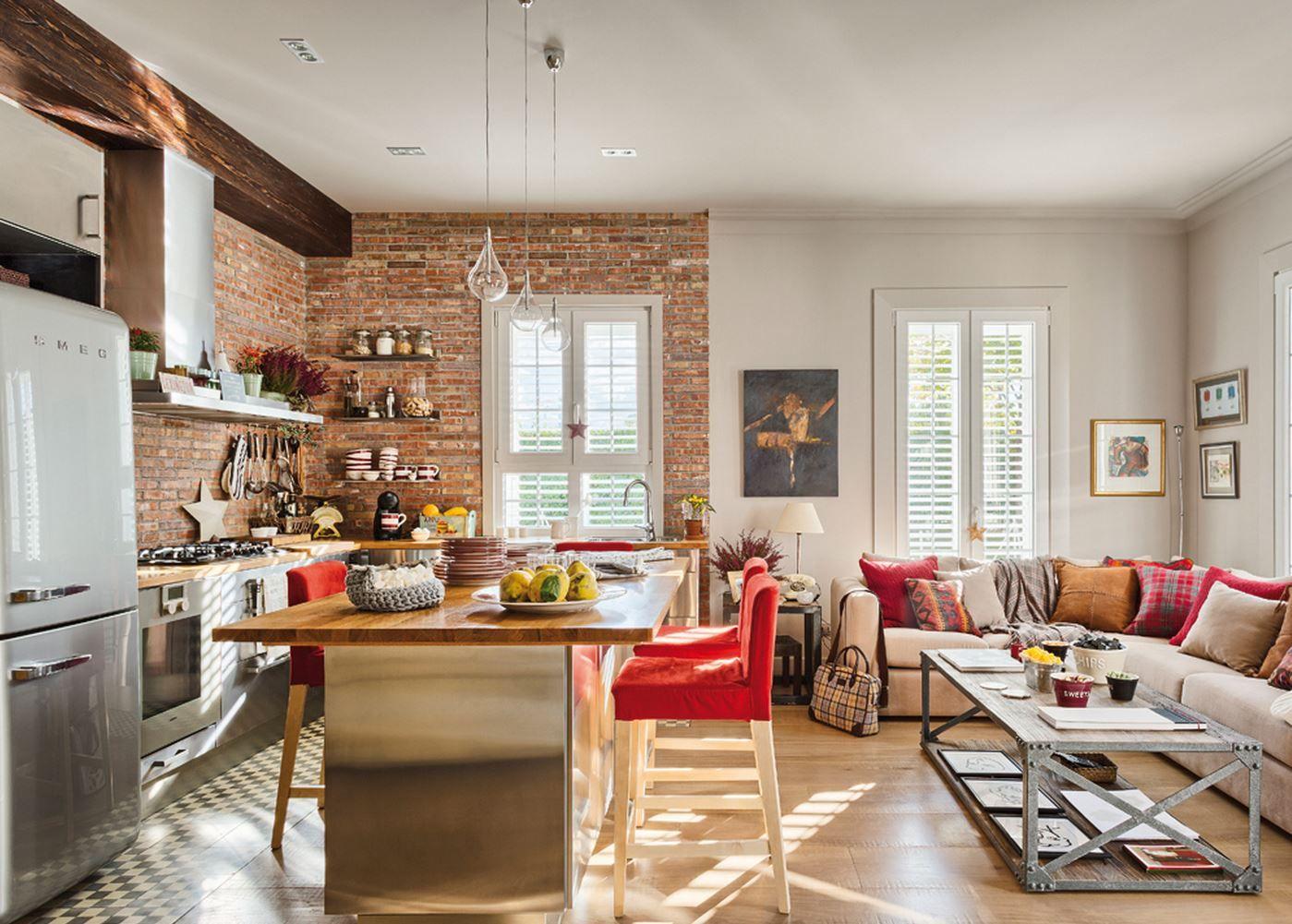 Sala E Cozinha Conjugadas Ideal Para Receber Amigos  -> Cozinha Com Sala Conjugada