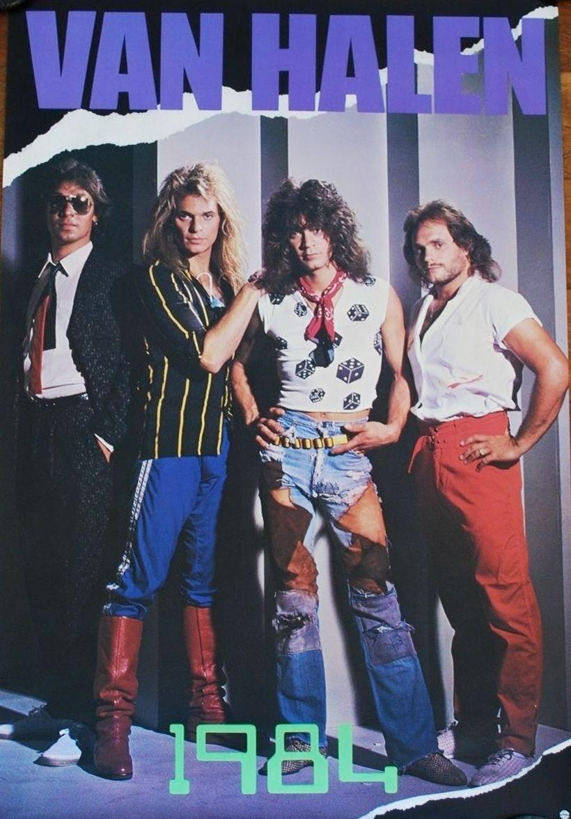 Promotional Poster For Van Halen S 1984 Album Van Halen Eddie Van Halen Alex Van Halen