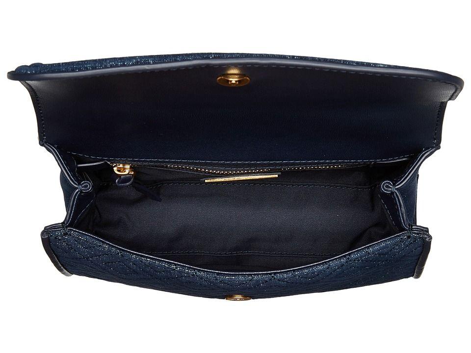 e8d5f9e016e Tory Burch Fleming Denim Suede Small Convertible Shoulder Bag Shoulder  Handbags Tory Navy