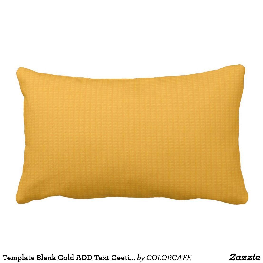 template blank gold add text geeting photo jpg 99 lumbar pillow