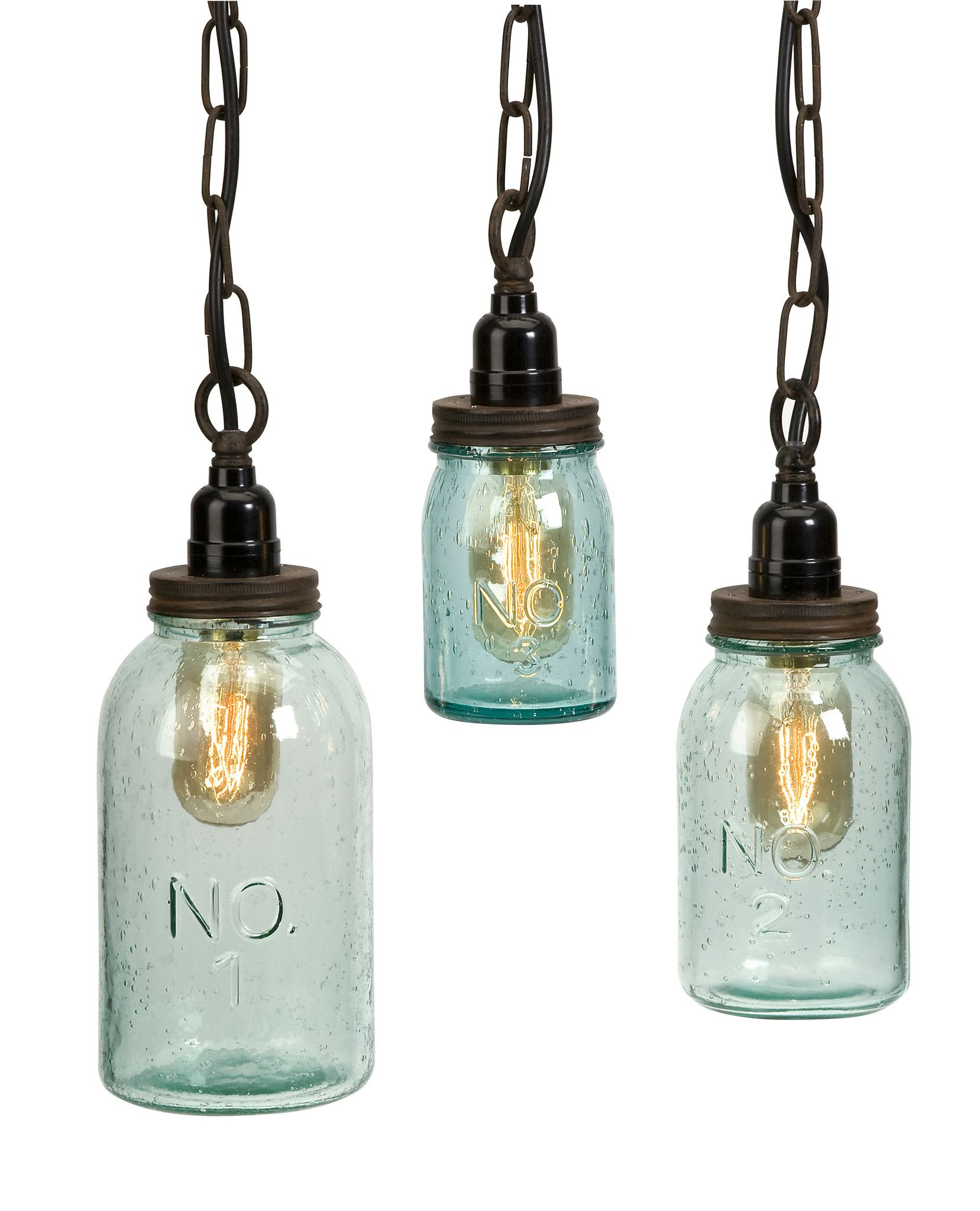 Rustic Industrial Lighting Chandelier Mason Jar Chandelier: Rustic Industrial Mason Jar Pendant Lights