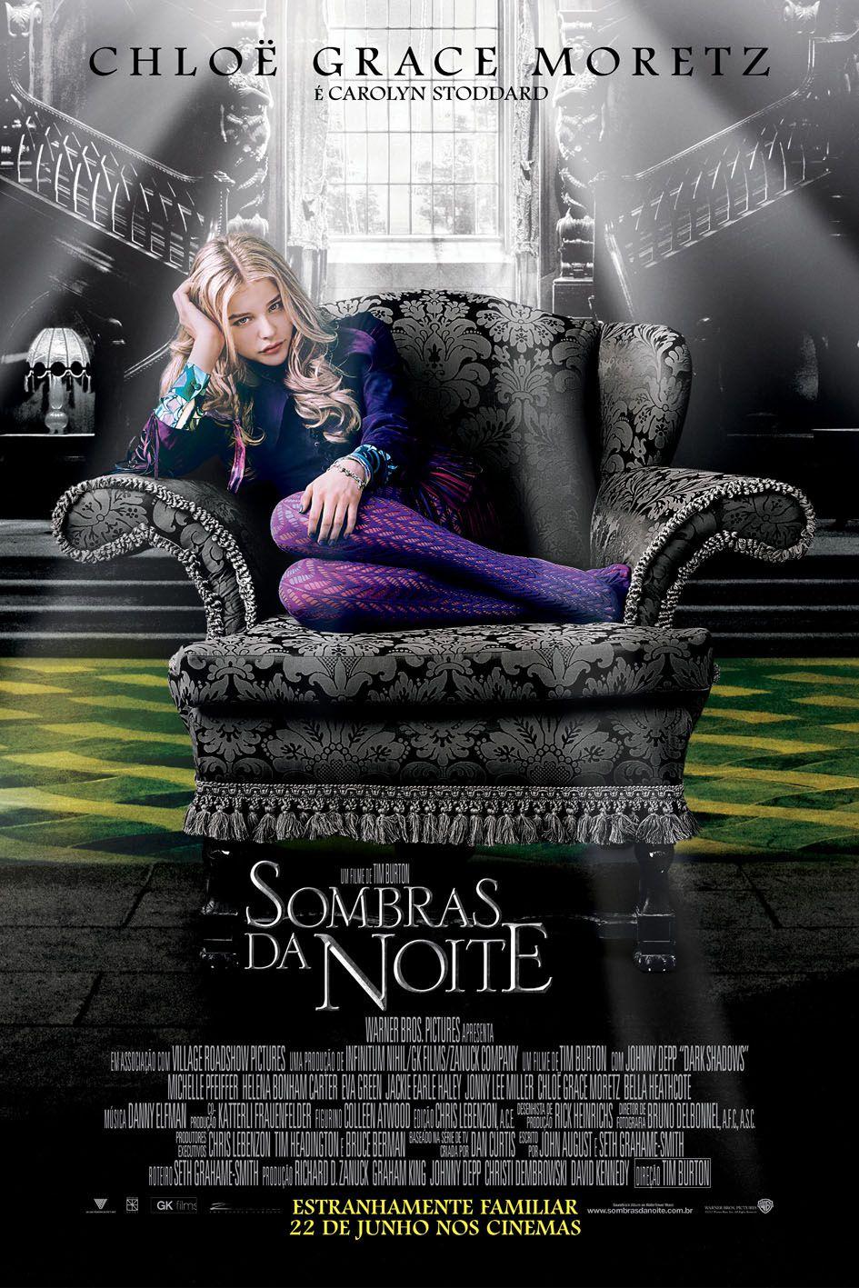 Sombras Da Noite Filme Com Tim Burton E Johnny Depp Ganha Mais Cartazes Brasileiros Filmes De Fantasia Filmes Sombras Da Noite