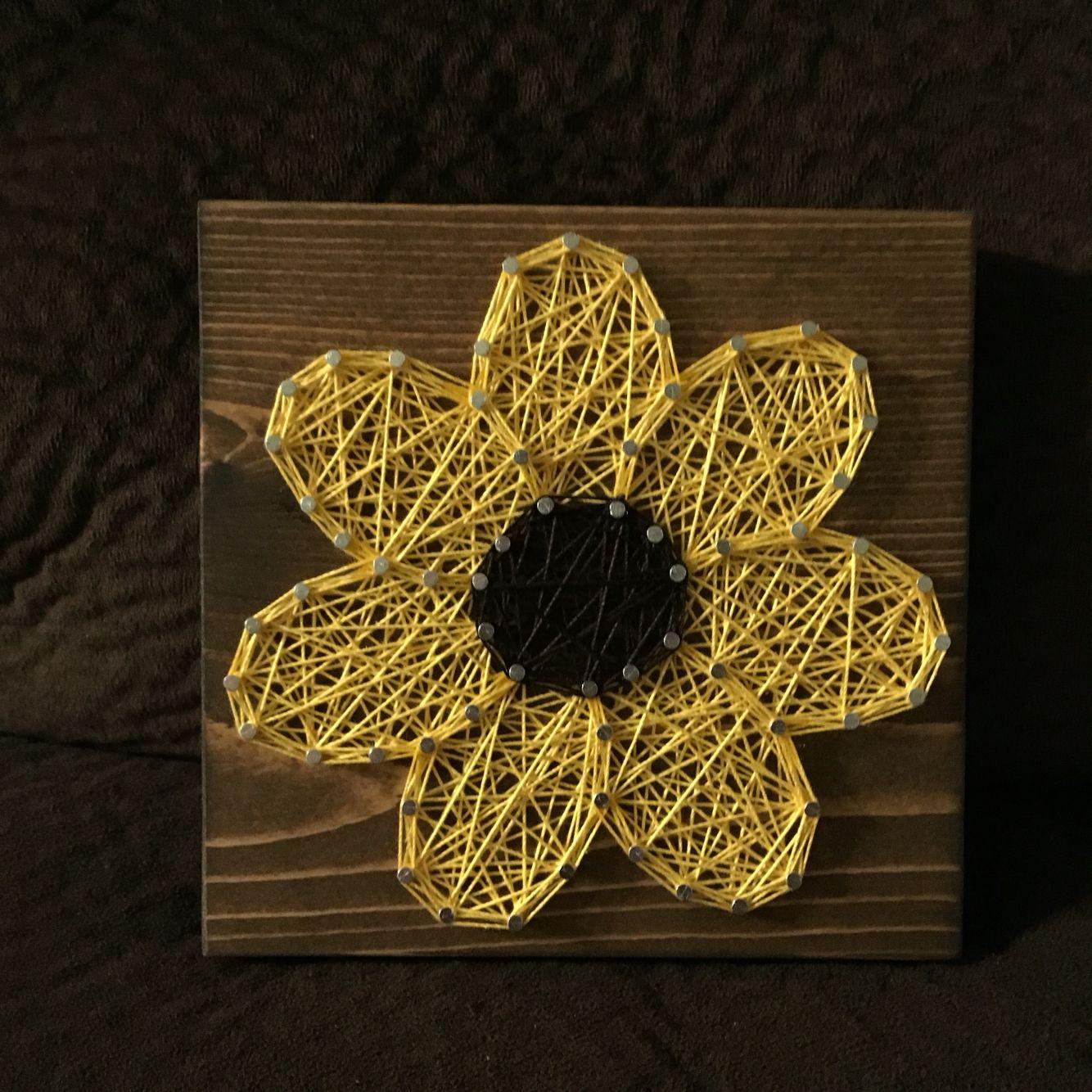 CUSTOM Flower/Daisy String Art, Floral Home Decor, Nursery Art ...