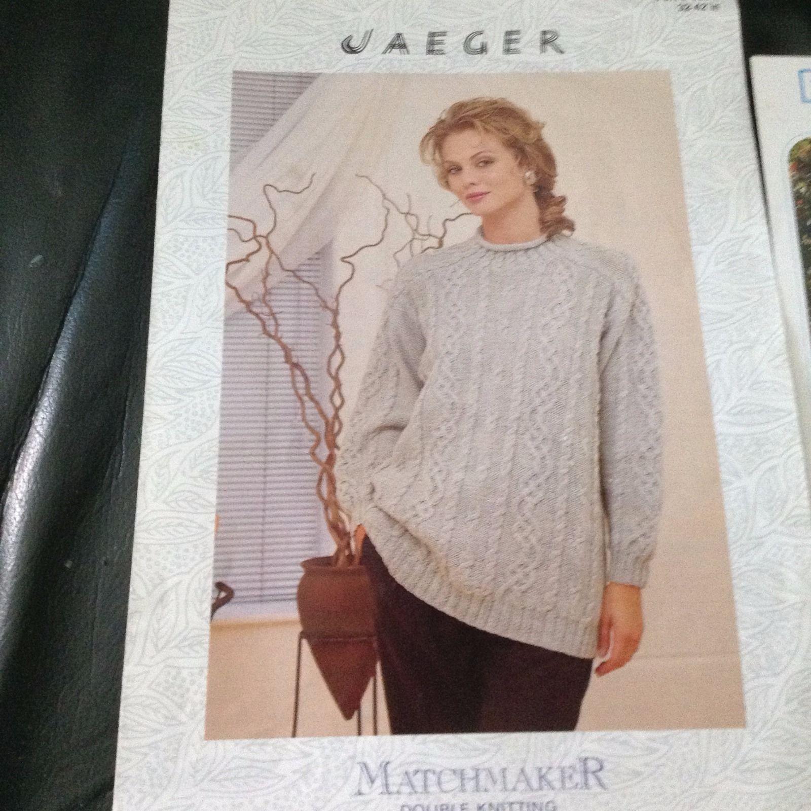 Jaeger matchmaker DK ladies aran style jumper knitting pattern 32-42 ...