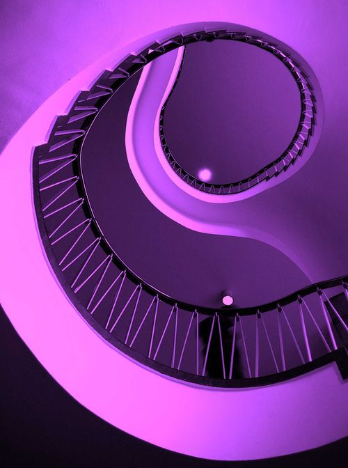 Purple spiral stair