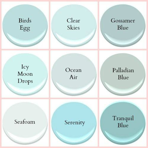 Benjamin Moore Seafoam Coastal Paint colors