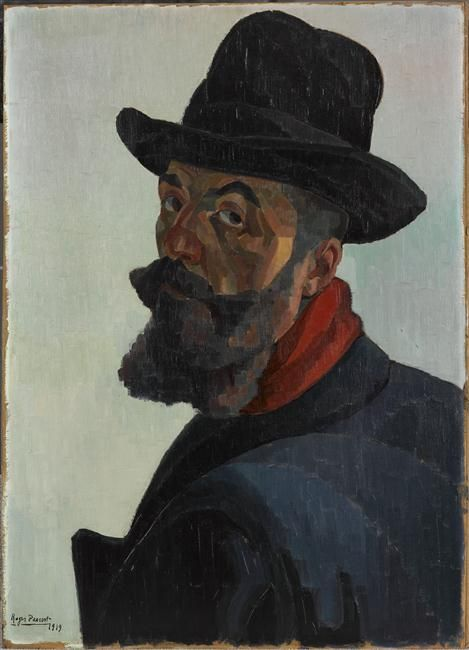 Self Portrait in a Large Black Hat, 1909, Roger Parent (1881-1986) /  Lille, Palais des Beaux-Arts