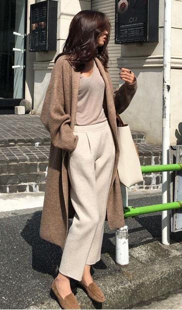 Cardigan en tricot – taille unique / Café   – Products