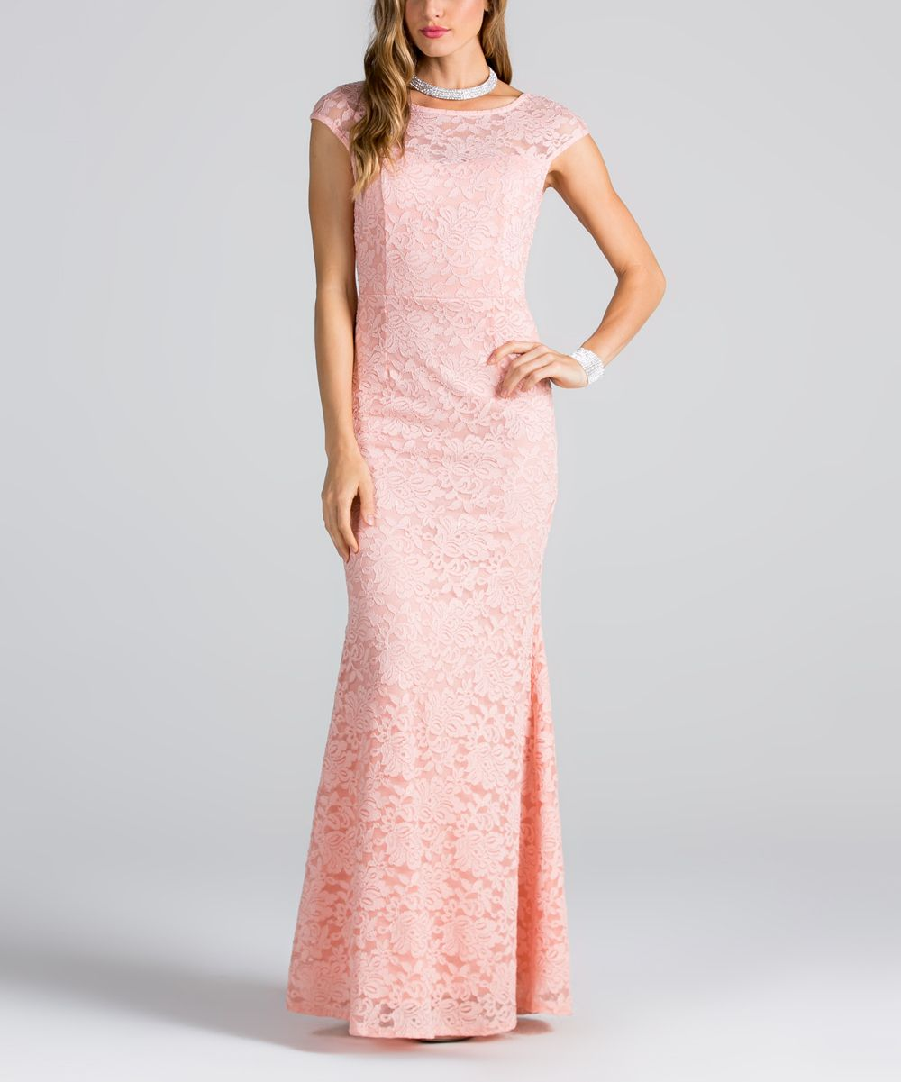 Blush Lace-Overlay Gown | Products | Pinterest