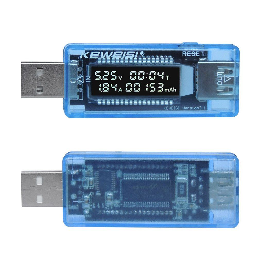 KEWEISI USB Charger Power Detector Battery Capacity Tester Voltage Current Meter