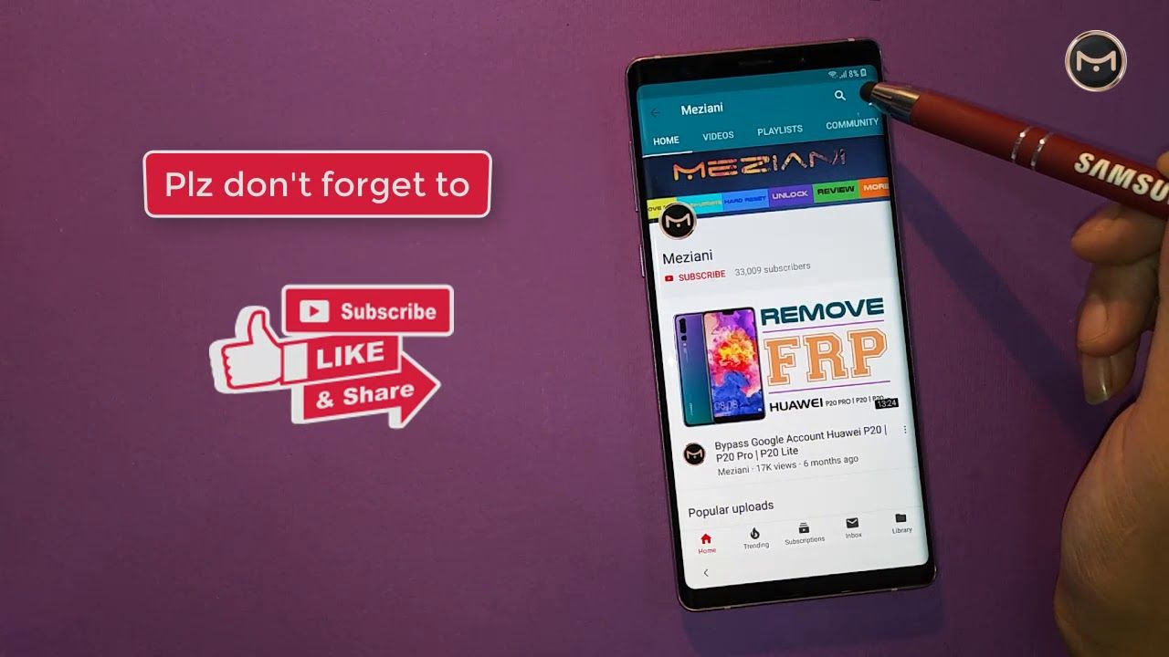 SAMSUNG GALAXY NOTE 9 Remove Google Account (FRP) Android