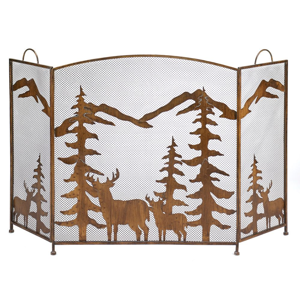 Grampy Treasures - Rustic Forest Fireplace Screen, $99.95 (http://www.grampytreasures.com/rustic-forest-fireplace-screen/)