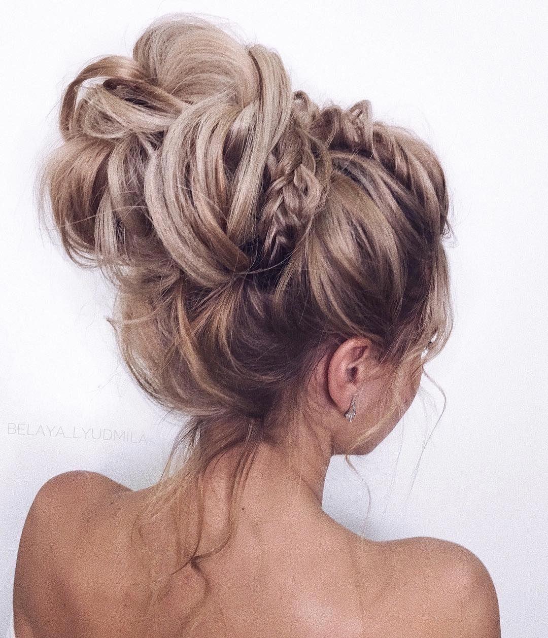 35 gorgeous updo wedding hairstyle inspiration , braids