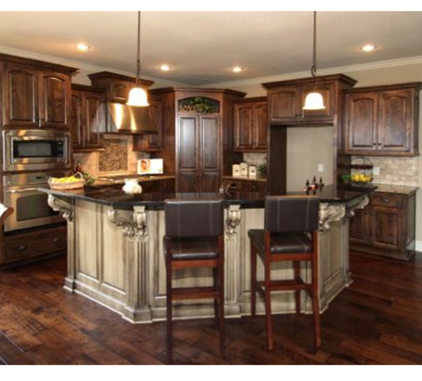43 Kitchens with Extensive Dark Wood Throughout | Natural flooring ...