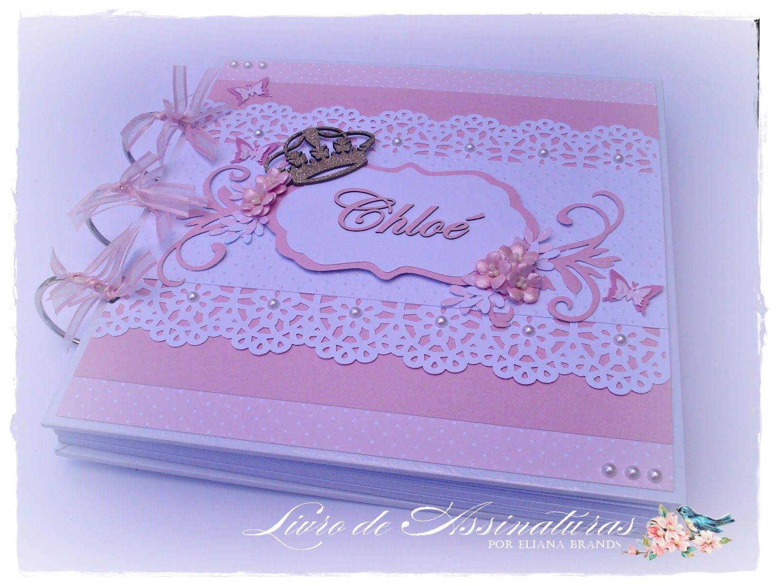 Livro de assinaturas por Eliana Brands: Livro de assinaturas e mensagens de maternidade - Tema coroa e flores