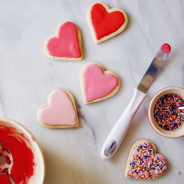 Frosted Heart Cookies | Turntable Kitchen