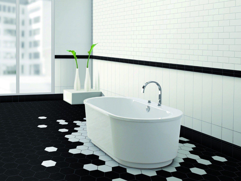 Pavimento nero bagno: arredare casa con pavimento scuro foto