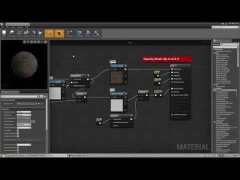 unreal engine 4 basic fur material schemes hints 3d 2d