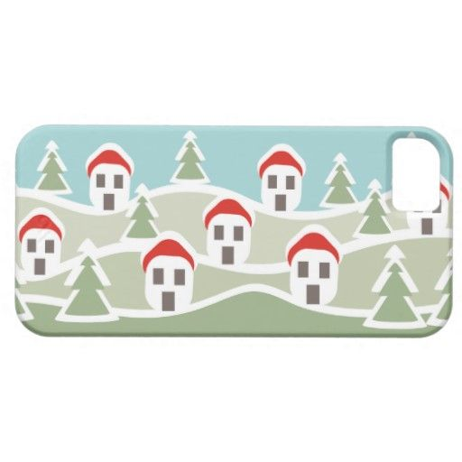 Winter snow covered village Barely There cases Iphone 5 Cases