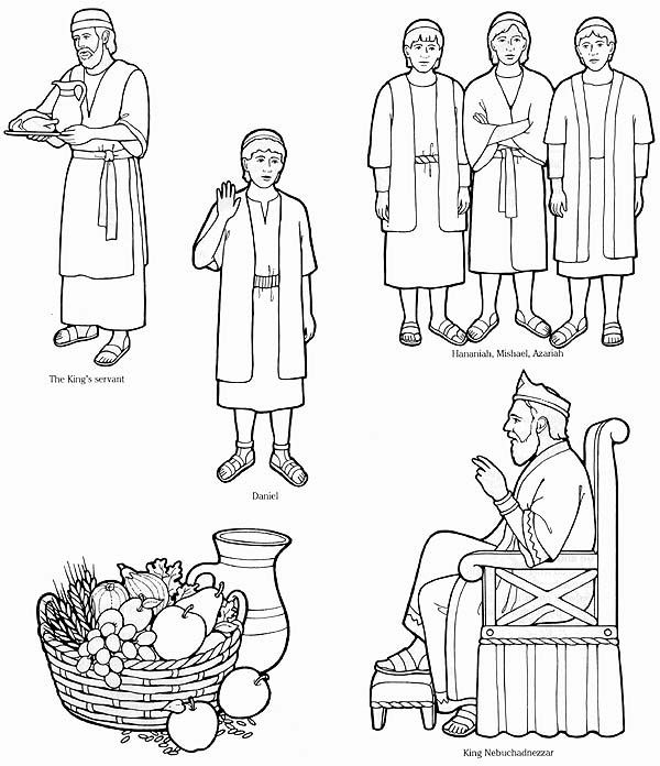 Daniel 1 Coloring Page Daniel Obeys God