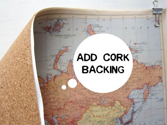 Pin your world travels map hanging cork kit paper anniversary pin your world travels map hanging cork kit paper by ecomonster gumiabroncs Gallery