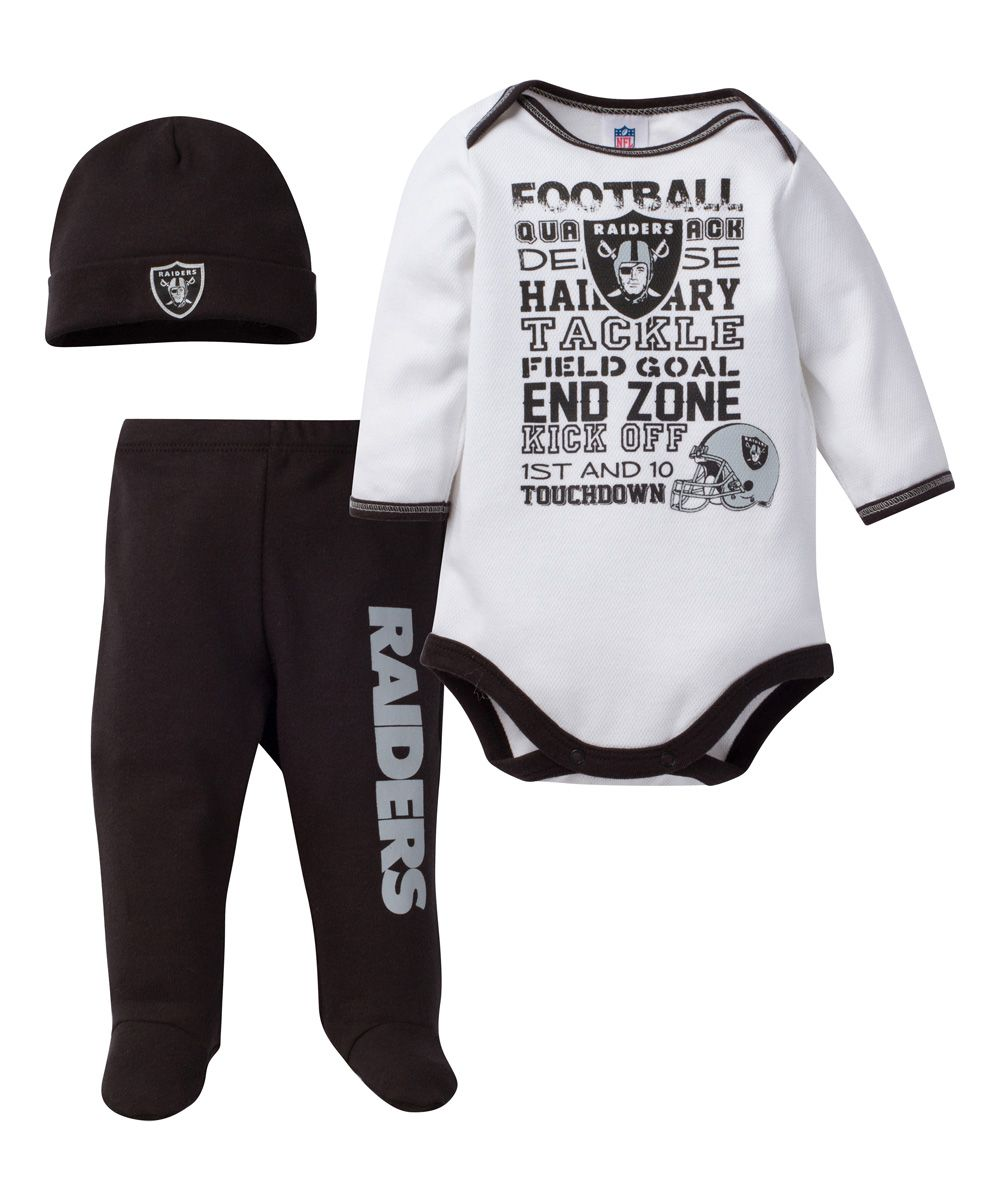 310f679b1 Oakland Raiders Footie Pants Set - Infant   Products   Raiders baby ...