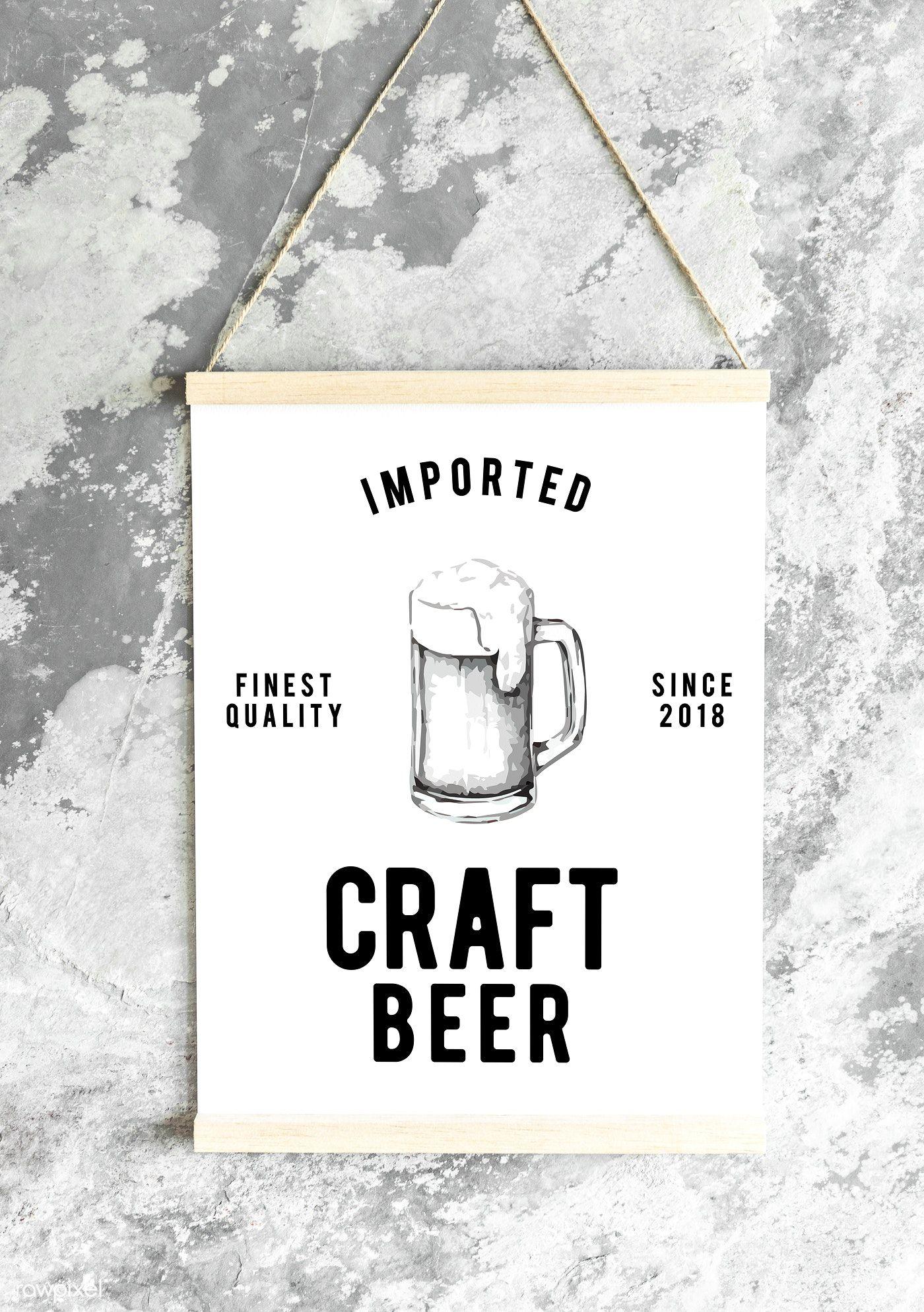 Download Premium Psd Of Craft Beer Pub Poster Mockup 531947 Beer Pub Craft Beer Poster Mockup