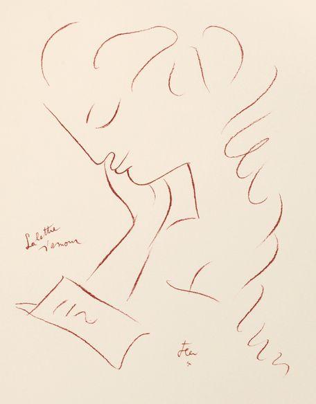 Jean Cocteau, 1883-1963 La Lettre d'Amour. The Love Letter. 1960. ♥