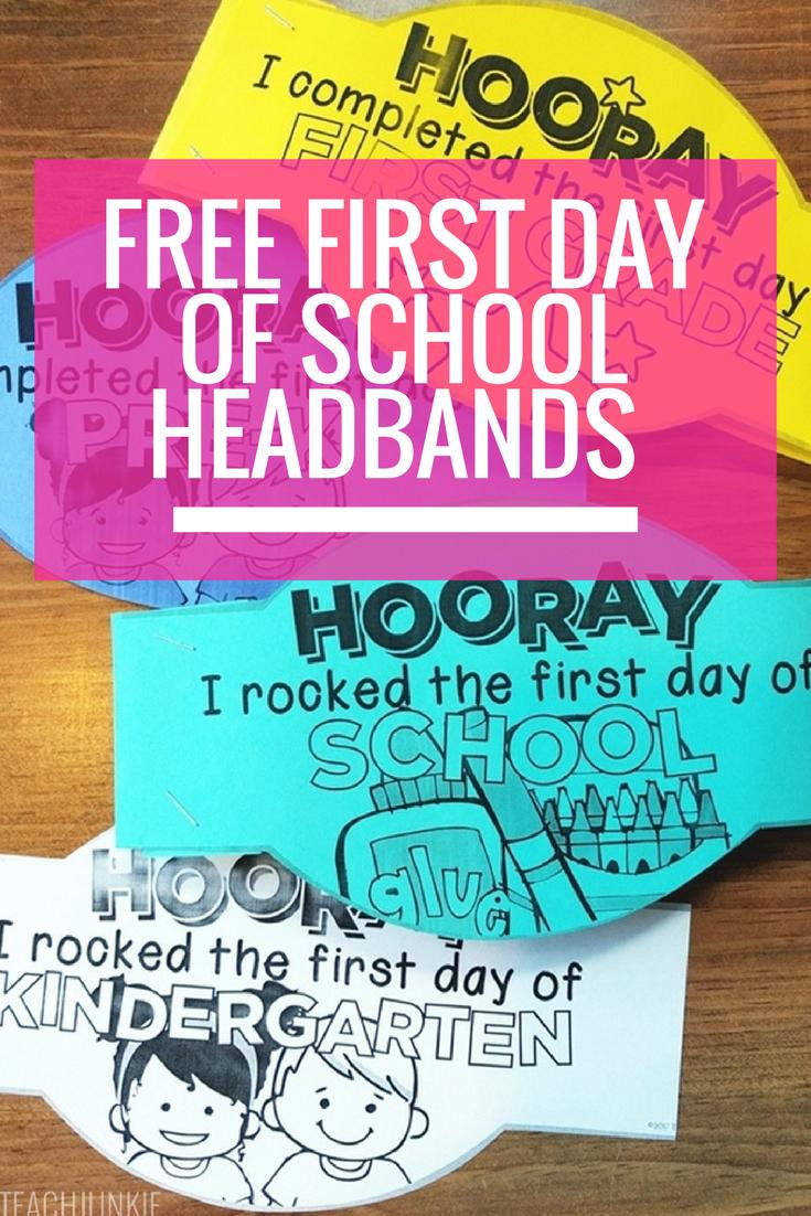 Kinder Garden: FREE First Day Of School Headband Crowns