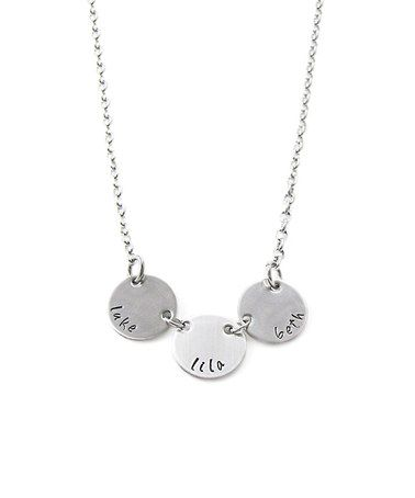 $16.99 marked down from $30! Stainless Steel Personalized Triple Pendant Necklace #zulily #zulilyfinds