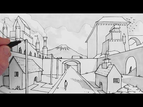 How To Draw A Background One Point Perspective Perspective Art 1 Point Perspective Background Drawing