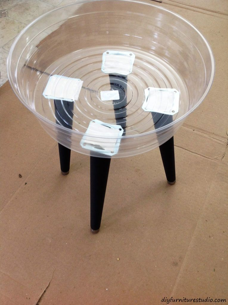 Diy Cement Side Table Trial Run With Double Sided Tape To Determine Location Fo Diy Cement Side Table Trial Ru In 2020 Cement Diy Concrete Diy Cement Furniture